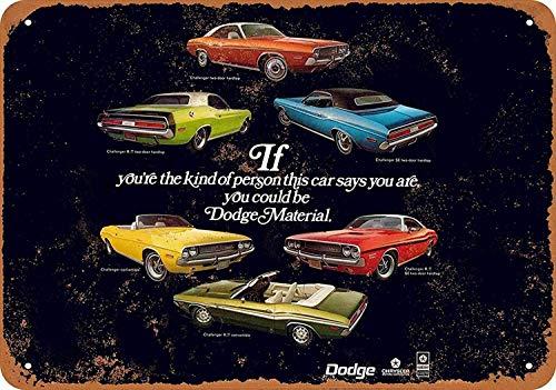 Sary buri Metal Tin Sign Poster 1970 Dodge Lineup Plaque Wandkunst Garage Club Bar Dekoration (Lineup Pins)