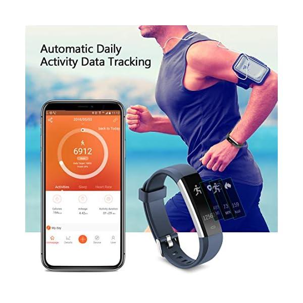 Yuanguo Pulsera de Actividad Inteligente Reloj Deportivo con Pulseras de Repuesto Podómetro Monitor de Sueño Pulsera… 3
