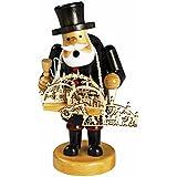 """Räuchermännchen Räuchermann Räucherfigur Rauchfigur mit Bauchladen """"Schwibbogenhändler"""" ca. 14 cm hoch, aus Holz, Weihnachten Advent Geschenk (30122-14)"""