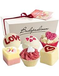 BRUBAKER Cosmetics Boules de bain - 6 Pièces - Coffret cadeau 'Wild at Heart' - Vegan