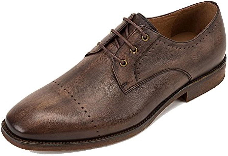 LYZGF Hombre Negocios Transpirable Casual Moda Juvenil Cordones Zapatos De Cuero -