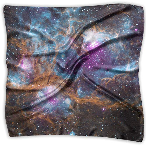 Rghkjlp Universe Galaxy Space Print 100% Silk, Silk Scarf Square, Small Handkerchief, Bandana Classic Square Scarf Small - Funky Bandana
