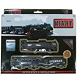 #5: ROTLE Battery Operated TRAIN (Black) 13 Piece Train set with Engine