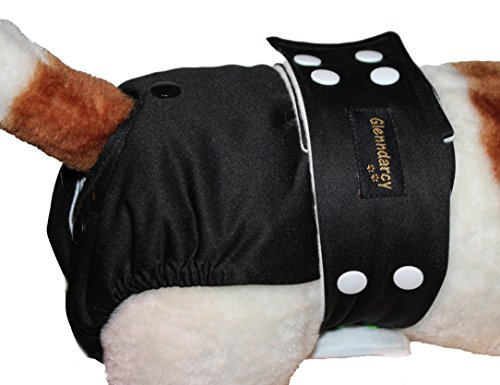 fully-adjustable-waterproof-female-dog-nappy-washable-pads-smarty-pants-sml-to-medium-sizes-black