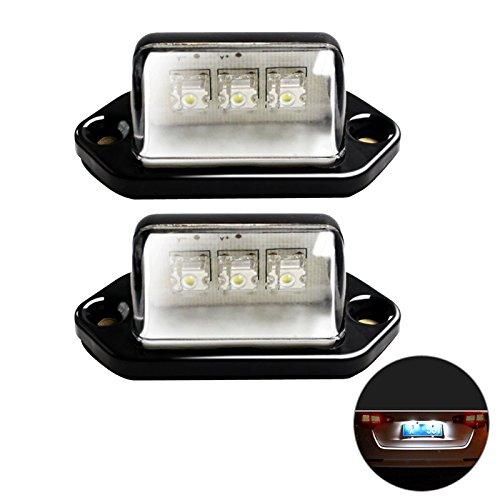 Nummernschild Schritt (WINOMO 2pcs Auto LED-Kfz-Kennzeichen-Umbau-Licht-Auto-Tür-Schritt-Lampe Taillamp)
