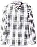 Goodthreads Herren Slim-Fit Hemd aus Baumwoll-Popeline mit Karomuster und langen Ärmeln, Beige (Ivory Check Ivo), Gr. X-Large
