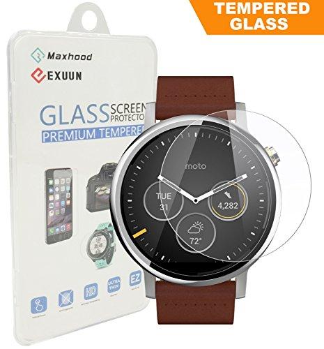 Vetro temperato protettivo, per Smartwatch Motorola Moto 360, seconda generazione, 46 mm, 0,3 mm