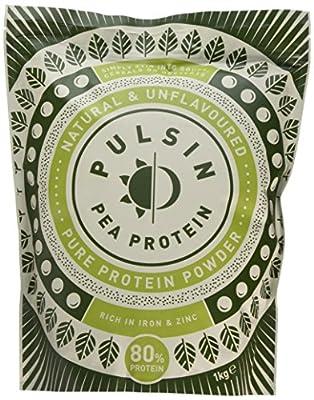 Pulsin' Unflavoured Pea 80% Protein Powder, 1kg
