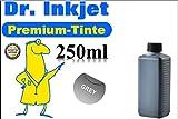 250ml Grau - Dr.Inkjet Premium Nachfülltinte in 250ml Abfüllung für Canon Druckerpatronen für CLI571G | CLI571XLG - CR71GY