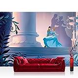 Fototapete 254x184 cm PREMIUM Wand Foto Tapete Wand Bild Papiertapete - Kindertapete Tapete Disney Aschenputtel Cinderella Kindertapete Prinz petrol - no. 2654