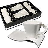Schäfer 12 tlg.Espressotassen Set im edlen Design mit Geschenkkarton
