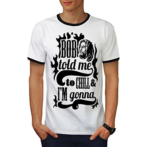 Bob Marley Gras Berühmtheit Bob Marley Herren L Ringer T-shirt | Wellcoda (Shirt Authentisch Teppich Von)