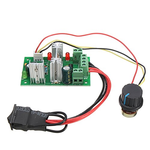 ILS - DC 6-30V 200W 16KHz PWM Motor speed Controller Regulator Reversible Control Forward/Reverse Switch Reverse Polarity protection high current protection High Efficiency High Torque Low Heat Generating (Speed Control Motor Dc)