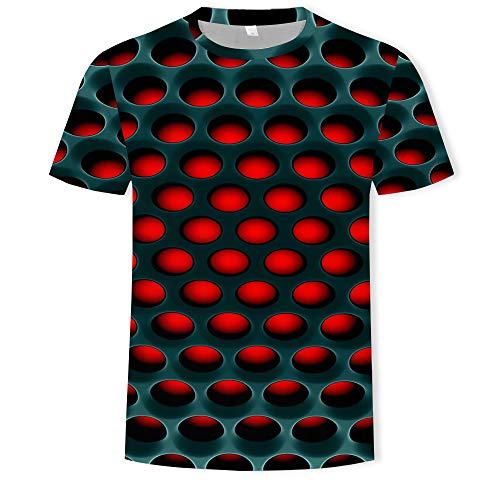 Hohe Qualität T-shirt (YCGJ Männer T-Shirt Casual Kurzarm Oansatz Mode Lustig gedruckt 3D T-Shirt Männer/Frau T-Shirts Hohe Qualität T-Shirt Hombre,Honeycomb,XXXXL)