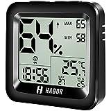 Habor Digital Thermo-Hygrometer Luftfeuchtigkeit Messer Raumluftüerwachung ℃/℉wählbar , mit Stand, Hängenloch und 3M Sticker
