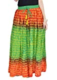 Nishiva Cotton Multicolor Tie Dye Skirt