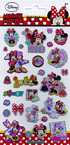 Disney-Minnie-Mouse-Foiled-Re-Usable-Sticker-Pack