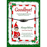 Accessory For Elf On The Shelf, Believe Charm Wishing Bracelet Arrival/Goodbye, Stocking Filler, Christmas Eve Box Gift