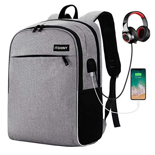 Zaino Business per Laptop, Zaino da Viaggio con Porta USB, Borsa Leggera per Laptop, Zaino per la scuola uomo/donna, Adatta per Laptop e Notebook fino a 15,6 pollici