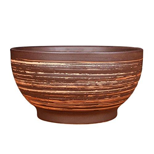 Keramikschale Persönlichkeit Suppenschale Steingut Antikes Geschirr Obstschalen (Color : Brown,...