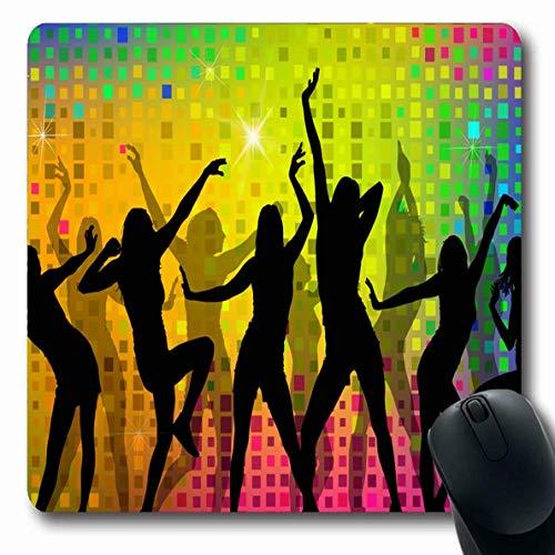 Luancrop Mousepads Wettbewerb Regenbogen-farbige Tanzen-Party-Mädchen-Tanz-Tätigkeits-attraktives Kostüm-rutschfeste Spiel-Mausunterlage Gummi-längliche - Attraktive Kostüm