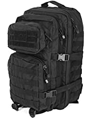 Mil-Tec MOLLE Tactical Assault Backpack - Large 36 Litre (Black)