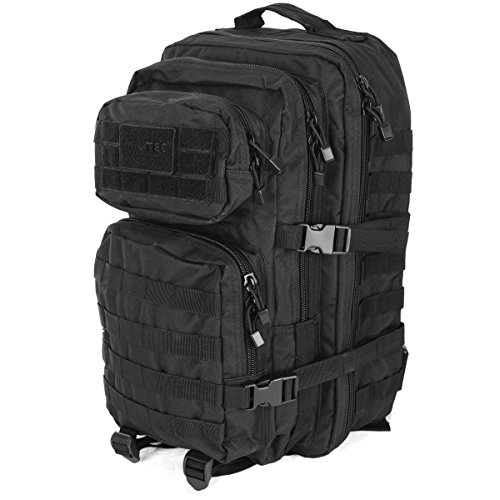 Foto de Mil-Tec Military Army Patrol MOLLE Assault Pack Tactical Combat Rucksack Backpack Bag 36L Black