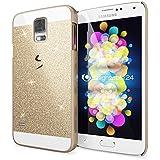 delightable24 Schutzhülle Sparkle Design Case SAMSUNG GALAXY S5 / S5 NEO Smartphone - Gold