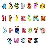 26Bunte Alphabet Buchstabe A-Z Lovely Tier Bügelbild Patch Badge Jeans Kleidung Applikation Stoff Applikation Schnittmuster Aufkleber