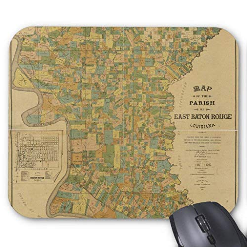 Parish of East Baton Rouge, Louisiana Map (1895) Mouse Pad 18×22 cm