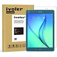 Samsung Galaxy Tab A 9.7'' (SM-T550) Protector de Pantalla Cristal, iVoler® Film Protector de Pantalla de Vidrio Templado Tempered Glass Screen Protector para Samsung Galaxy Tab A 9.7'' (SM-T550)- Dureza de Grado 9H, Espesor 0,30 mm, 2.5D Round Edge-[Ultra-trasparente] [Anti-golpe] [Ajuste Perfecto] [No hay Burbujas]- Garantía Incondicional de 18 Meses