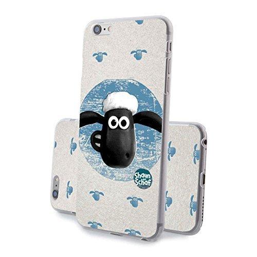 Finoo kompatibel mit/Ersatz für Handyhülle kompatibel iPhone 6 / 6S Hardcase Handy-Hülle | stoßfestes dünnes Bumper Etui | Shaun das Schaf | Shaun Kreis
