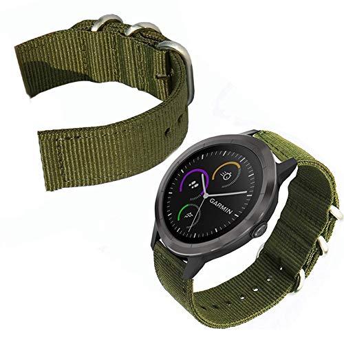 Duk3ichton Armband 20 / 22mm Verstellbares, Verdicktes Nylon-Ersatzarmband Grau 20mm