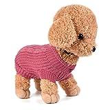 Ropa Para Perros, INTERNET Puente De Punto Para Mascotas Suéter De Invierno Disfraz De Peluche (S,...