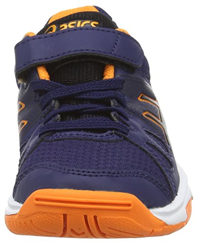 Asics Pre-upcourt Ps, Chaussures Multisport Indoor Mixte enfant Bleu (navy/black/hot Orange 5090)