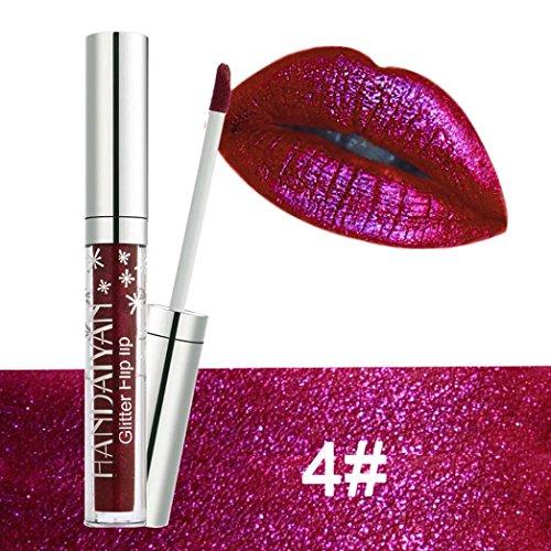 erthome Wasserdichte langlebige Matte Lippenstift Makeup Lip Gloss Lip, Kosmetika (Hot Pink) ()