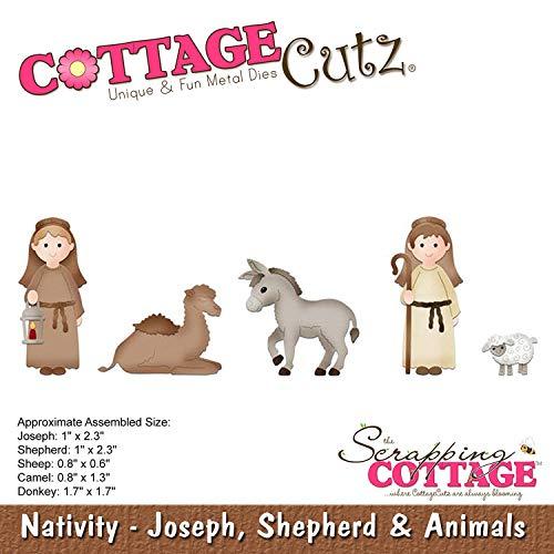 Cottage Cutz Dies-Joseph, Shepherd & Animals .6