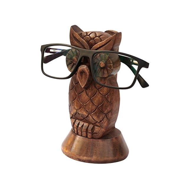 Kamla Sellers - Support de lunettes en bois décoratif - Pour la maison ou  le bureau ... 334a8df2bc1