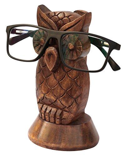 Kamla Verkäufer dekorativer Brillenhalter Holz Schlüsselanhängerform Home Decor Display Ständer Schreibtisch Dekoration eule