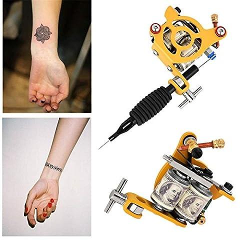 CYBERRY.M Professionnel Body Art De Tatouage Rotatif Machine à Moteur Shader Equipment (Jaune)