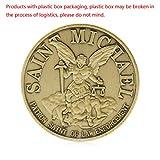 JIACUO Saint Michael Patron Stint der Strafverfolgung Vergoldete Gedenkmünze Art -