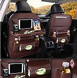 QXXZ Auto Rücksitz Organizer, Für Baby Automotive Kick Matte Protector Faltbare Esstisch Für Spielzeug Getränkehalter Lagerung Reise Zubehör Für (2 Stücke),3