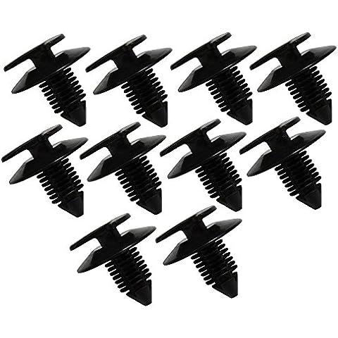 AERZETIX: Remaches plásticos para molduras puerta de coche (10 piezas)