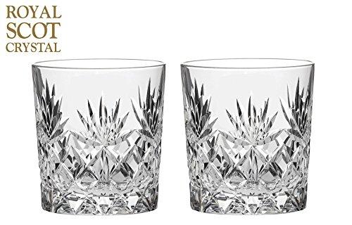 Royal Scot Crystal Kintyre Cristal - Lot de 2 311,8 gram Grande Verres à Whisky