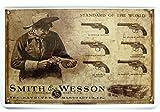 Smith and Wesson Deko Motiv Blechschild Replik Tin Sign