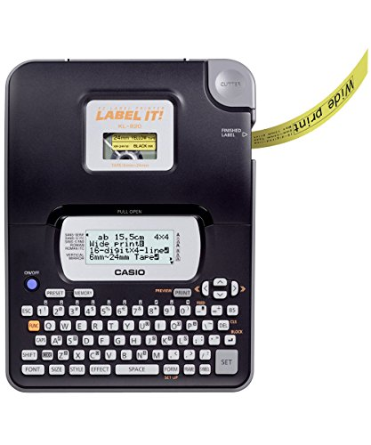CASIO EZ-Label Printer KL-820 Beschriftungsgerät  für Schriftbänder 6 / 9 / 12 / 18 / 24 mm