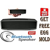 Portable Wireless Bluetooth Speaker | Pair With All Bluetooth Mobiles, MP3 Players, Laptops, Tablets | Built In Speakerphone & FM Radio| TF Card With Free Egg Mould.