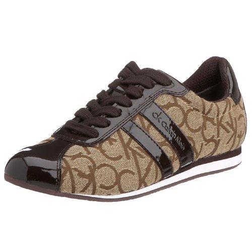 Calvin Klein CK Gayla N1042KKE38, Damen Sneaker, Khaki/Espresso, 38 EU/5 UK (Klein Calvin Khaki)