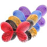 5pcs Alas de Hadas Mariposa Vestido Lujo Tela para Muchachas Disfraces