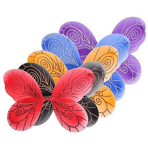 5Pcs Halloween Girls Fancy Dress up Butterfly Wings 44 x